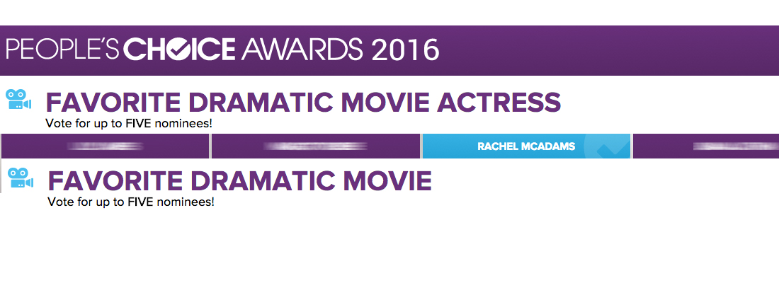 Nominate Rachel For The People's Choice Awards 2016